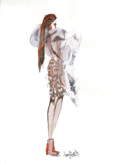Amy Dietz, former Project FashionWorks student, now at Parsons.  her illustrations have evolved so beautifully!  Fashion Illustration - Art and Fashion Portfolio