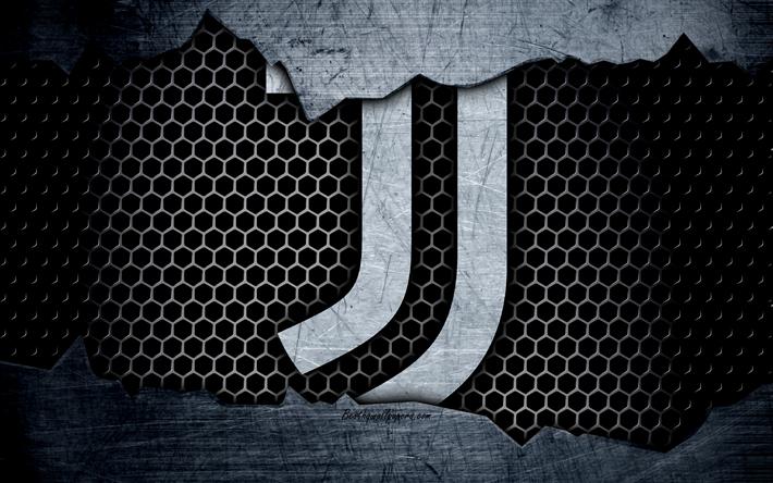 Download Wallpapers Juventus 4k Art Serie A Juve Soccer Logo