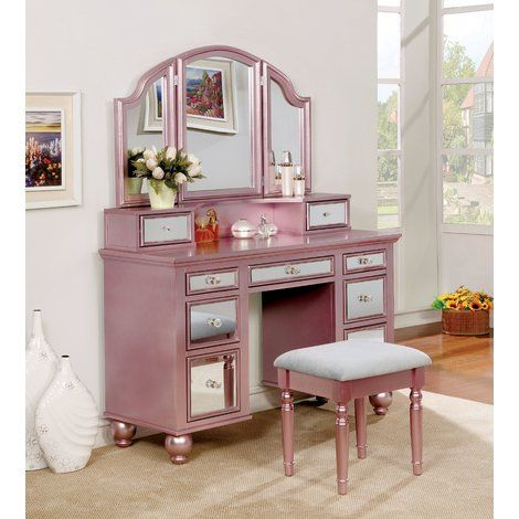 Galento Transitional Vanity Set with Mirror in 2018 p Pinterest - Bedroom Vanity Table