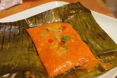Pasteles:  Making and serving at Christmas time is a Puerto Rican tradition. It's hard work, but well worth the effort. Get together a bunch of friends and make a day of it. Be sure to make enough for everyone to take home.          I love this stuff!
