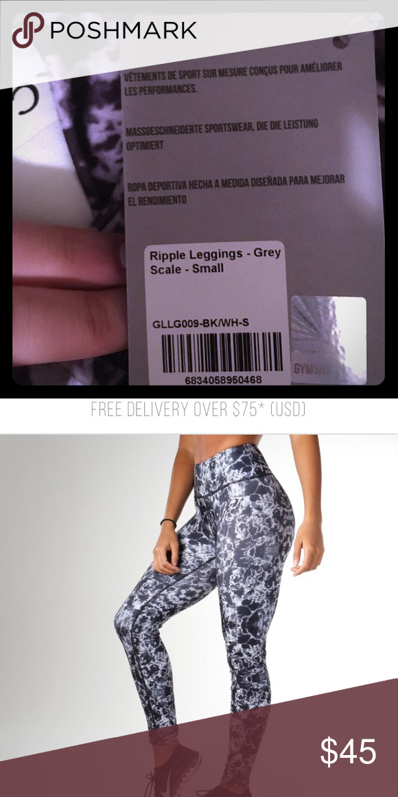 e8e69e928024f BRAND NEW Gymshark ripple leggings Brand new with tags still on. Straight  out of the