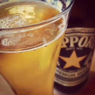 It's nice to have a Sapporo keg in the kitchen.