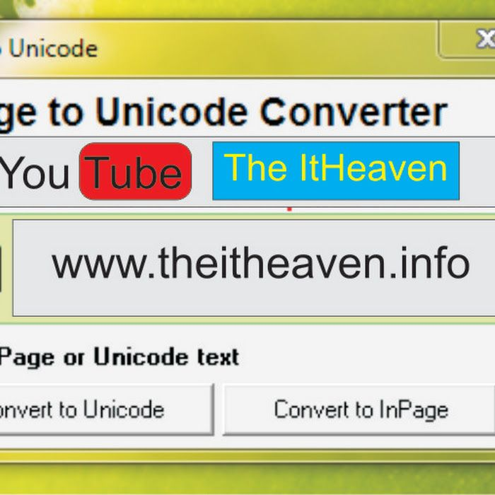 unicode to inpage converter software