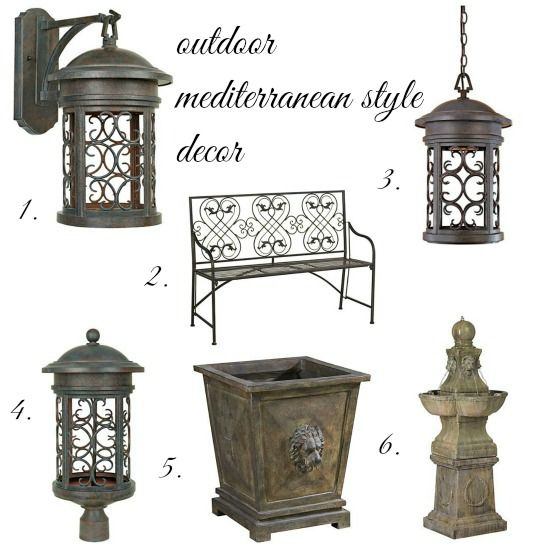 timeless and ornate mediterranean outdoor lighting and accessories