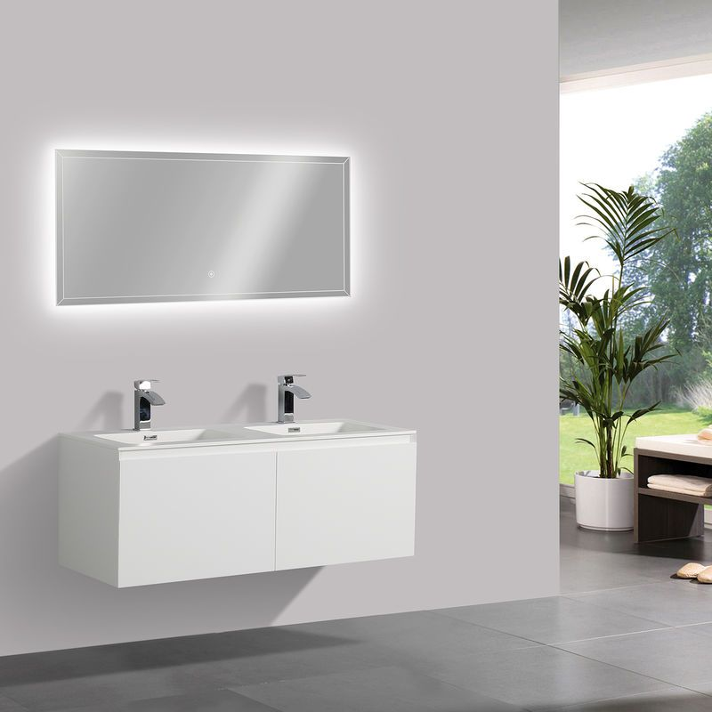 Meuble De Salle De Bain Luna 1200 Blanc Mat Miroir En Option Avec Armoire De Toilette G1200 Mat Bernstein Furniture Home Decor Home