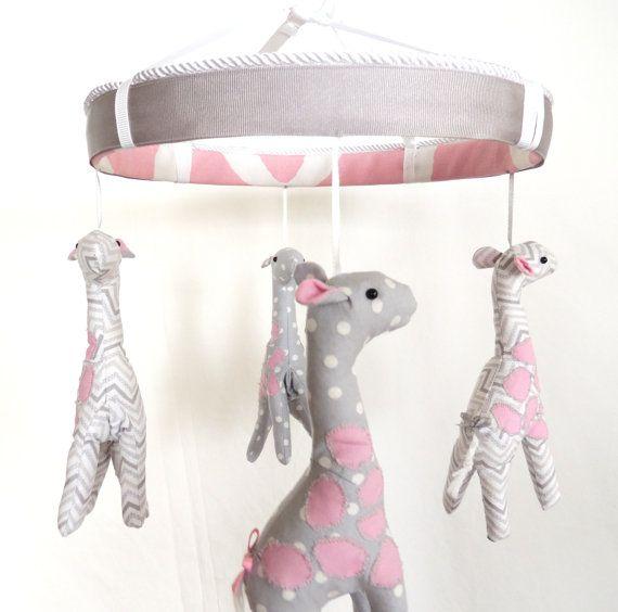 Baby Giraffe Crib Mobile Nursery Shower Gift On Etsy 145 00