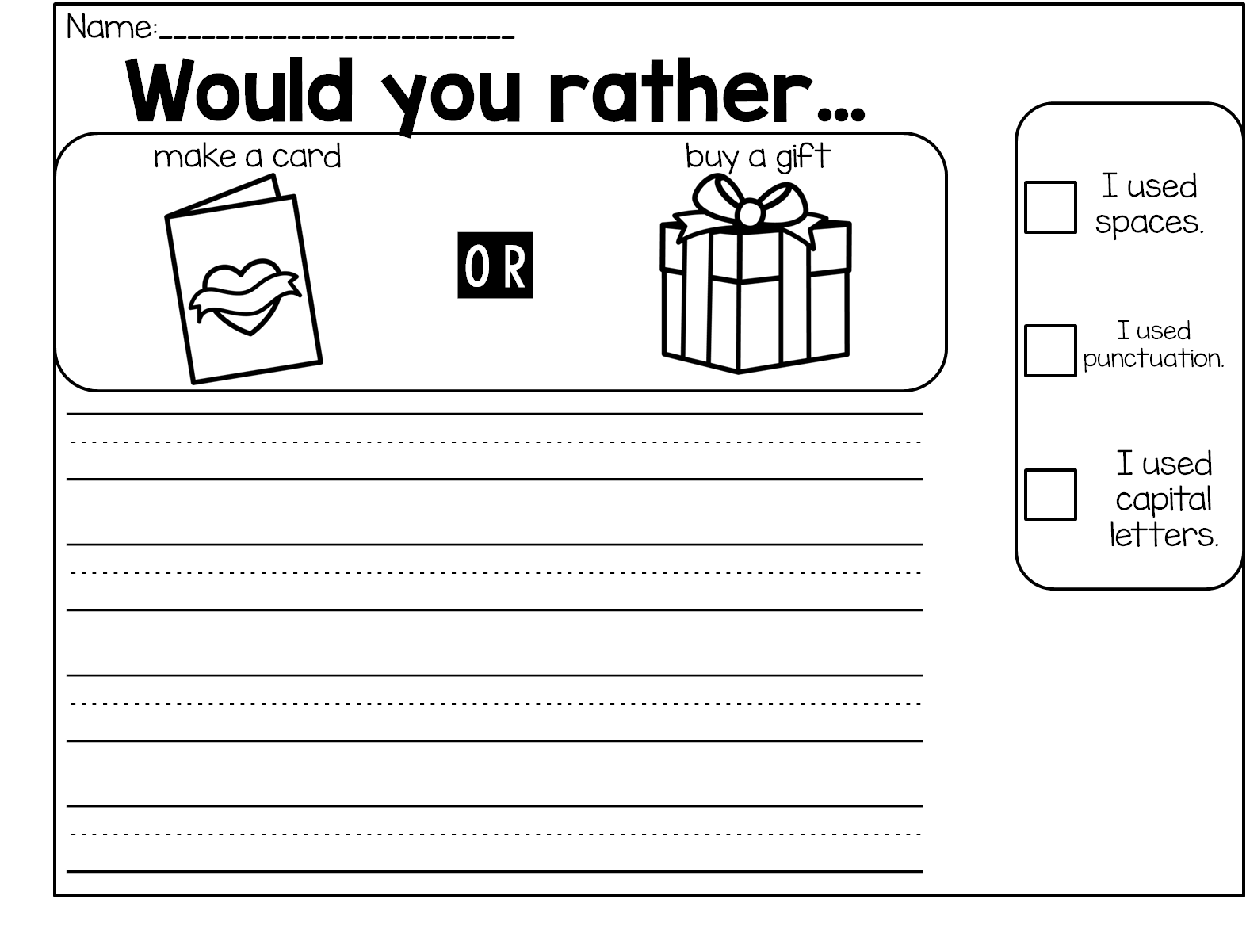 medium resolution of Valentine Writing Prompts   Valentines writing