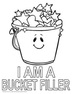 i am a bucket filler coloring page bucketfilling - Fill In Coloring Pages