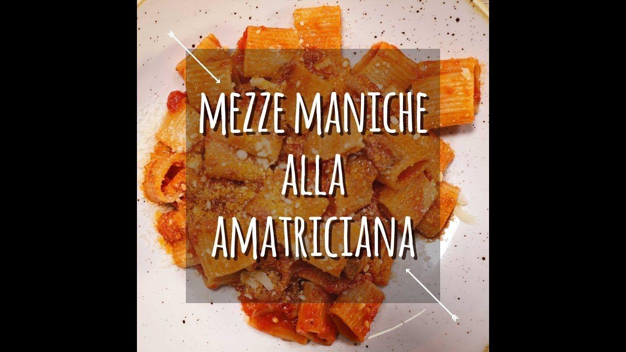 Mezze maniche amatriciana | Gnocchi, Pasta