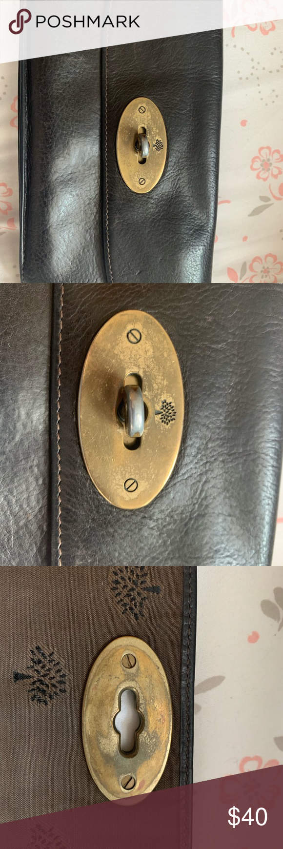 Mulberry turn lock wallet Well used wallet, still a Mulberry classic, no damage apart from marks and scratches on leather and lock, zipper working perfectly. Mulberry Bags Wallets #mulberrybag