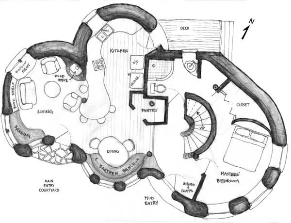 Cob Floor Plan Idea Cob House Plans Cob House House Floor Plans