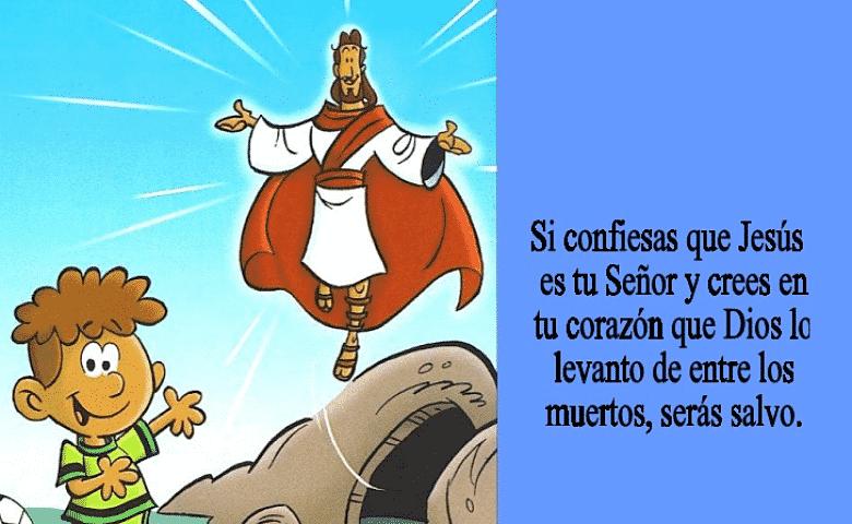 Romanos 10 9 Versículos Con Imágenes Para Niños Versiculos Para Niños Texto Biblico Para Niños Versos Para Niños