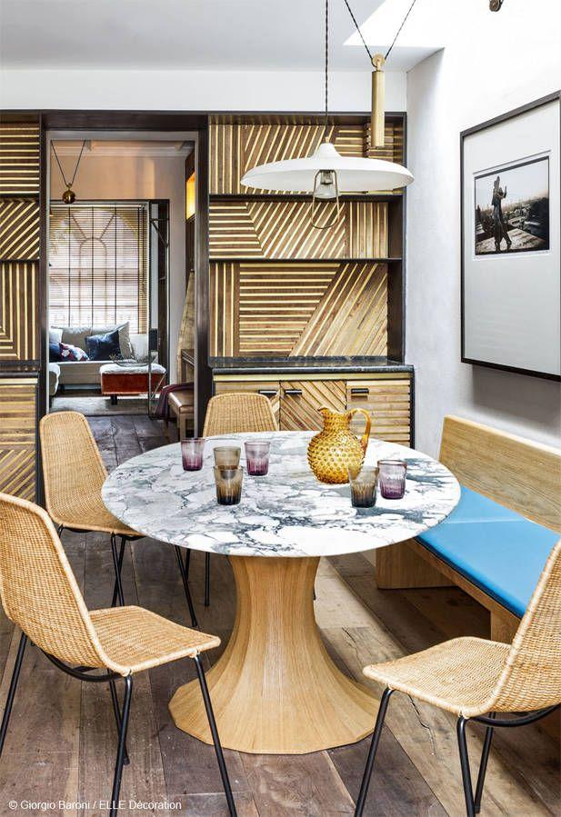 Une maison en or - Elle Décoration Dining, Interiors and Kitchens