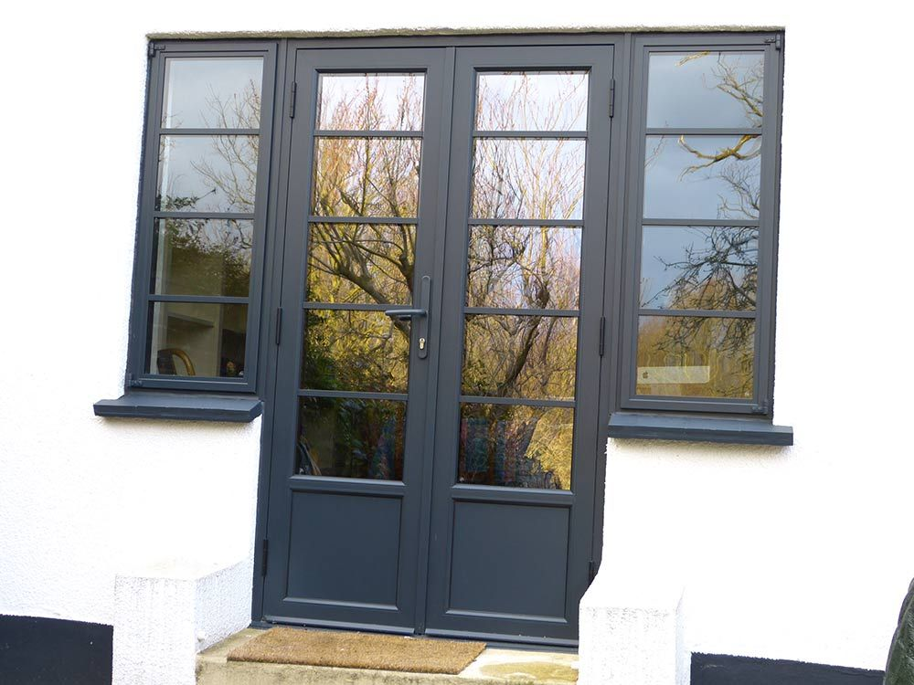 Aluminium crittall replacement doors london surrey kent new french doors art deco look patio step french doors planetlyrics Image collections