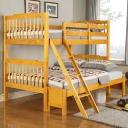 Overstock Com Simone Honey Pine Twin Full Bunk Bed This Bunk