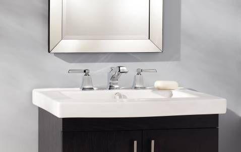 arc inch centerset in handle boardwalk moen p en handles faucets bathroom with chrome low home lever faucet