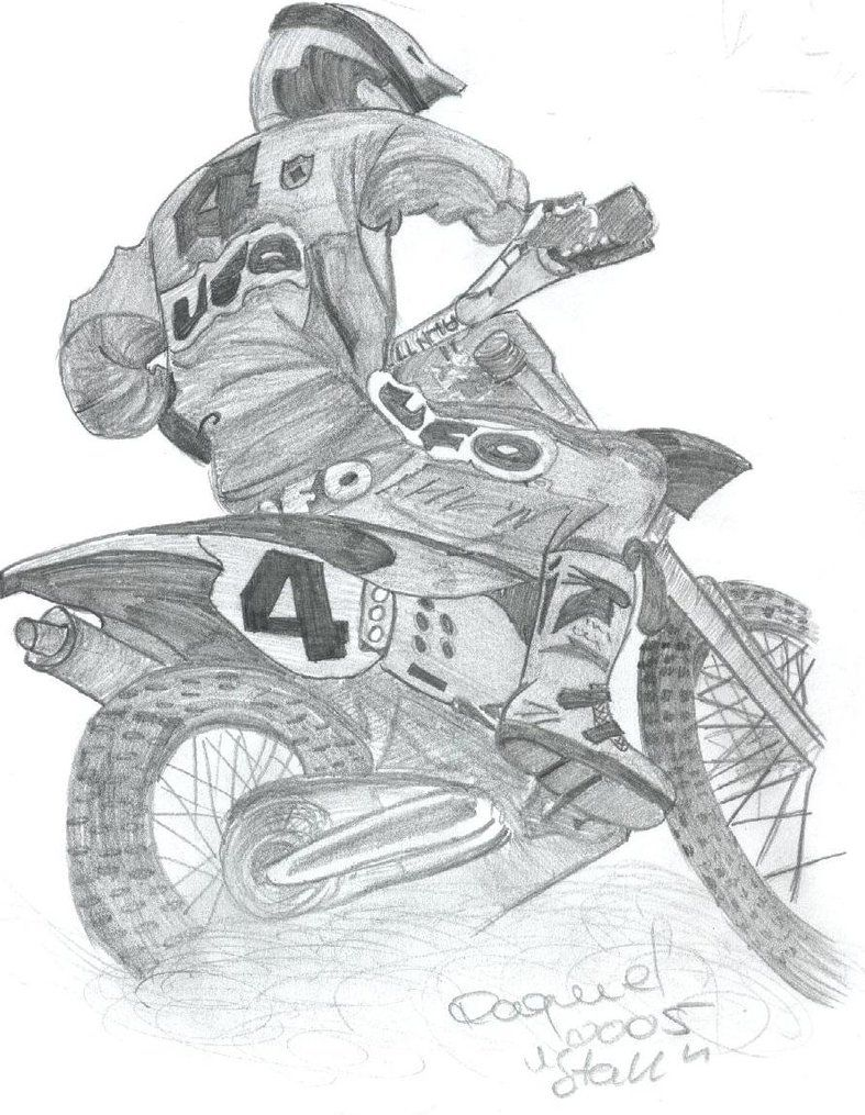 Draw this with pencil but of my self same kit number and bike