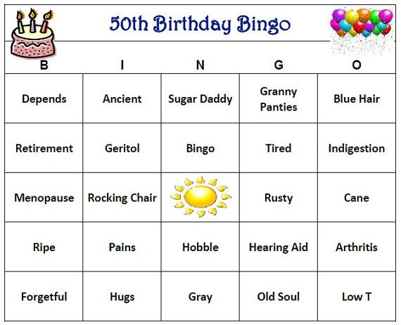 Customized 50th Birthday Party Bingo Game Adds Excitement And Fun For All Guests Includes 30 Unique Cards Buy Up To Four Sets If You Need More