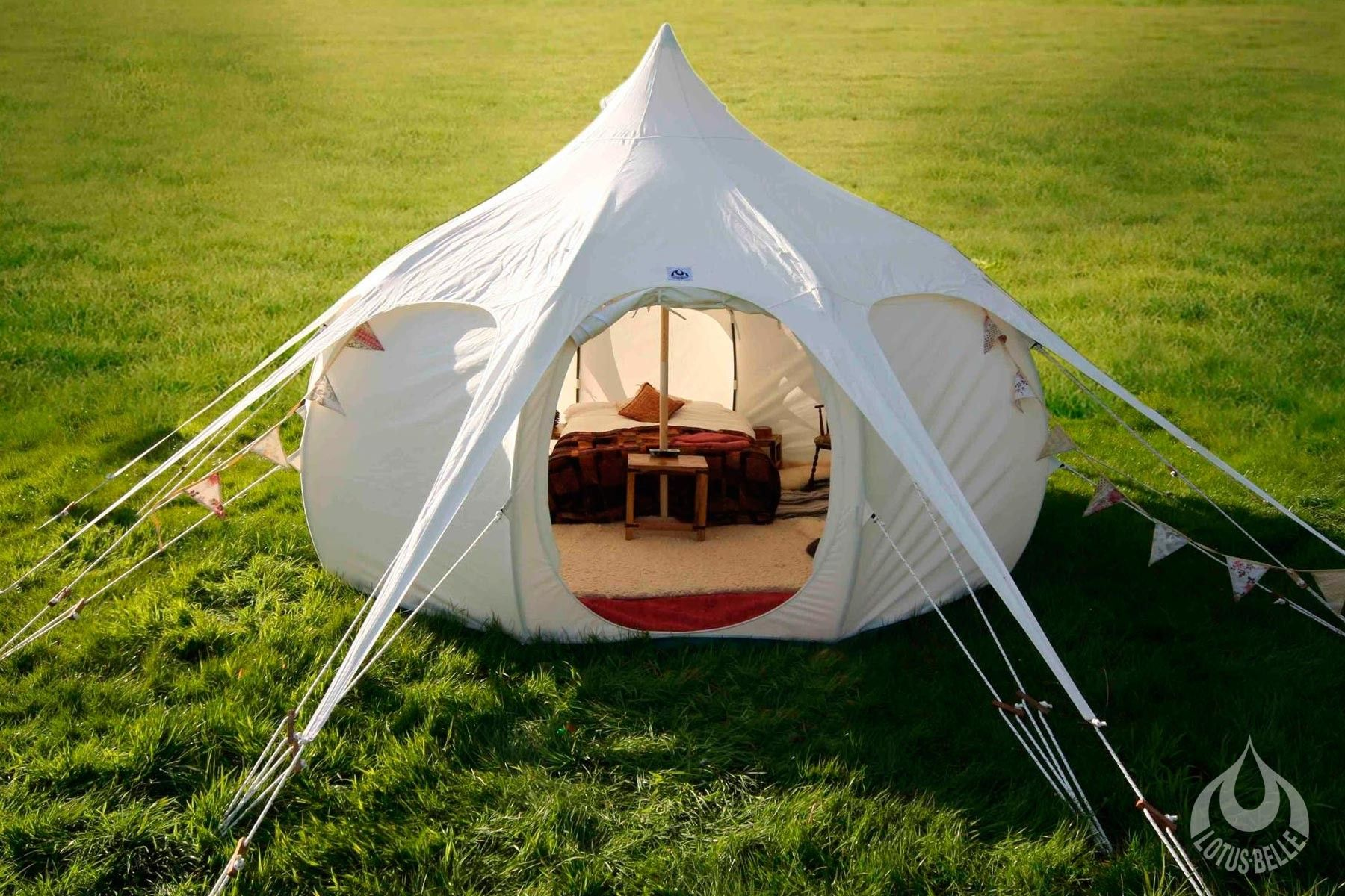 The 4 metre Lotus Belle tent Cream canvas 4 metre diameter at the base metres diameter at waist height 3 metre wooden centre pole PVC see through windows If & Lotus-Belle | Guest Yurt | Cabin | Pinterest | Tents Cabin and eBay