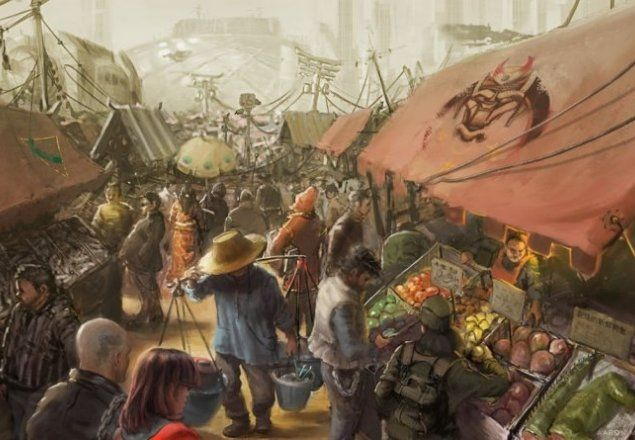 D&D Market Square audio atmosphere   Fantasy town, Concept art, Environment  concept art