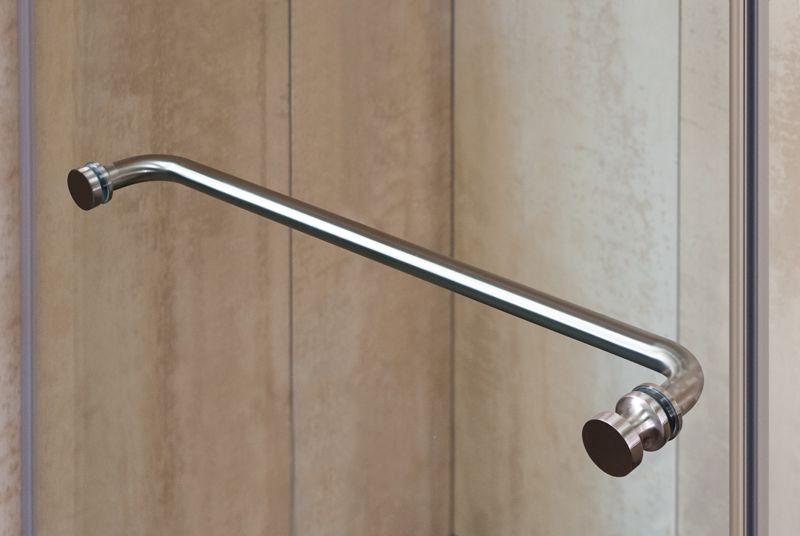 Brushed Nickel Shower Door Towel Bar