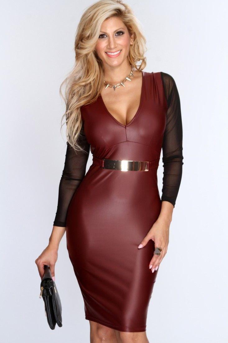 Hot Leather Dress
