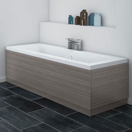 Best Brooklyn Grey Avola Bath Panel Wood Effect Various 640 x 480