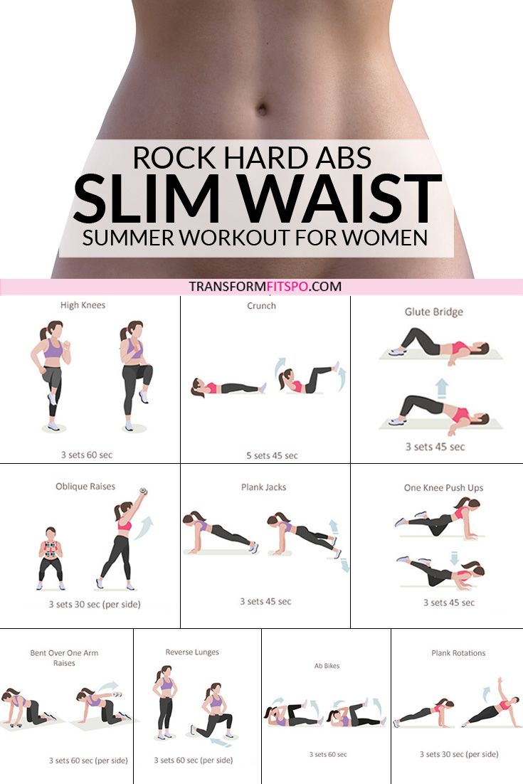 Rock Hard Abs – Slim Waist Workout for Women #workoutchallenge