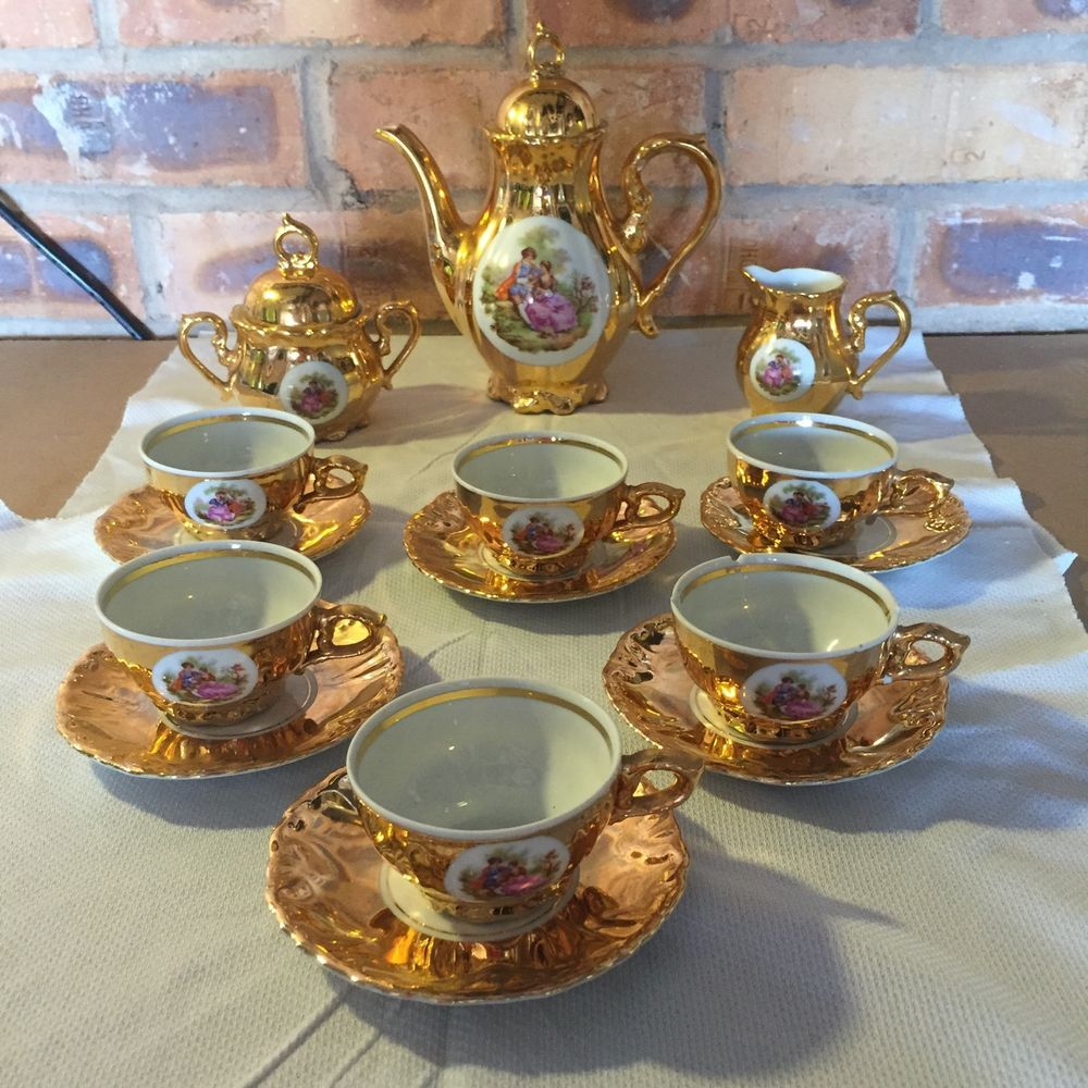Details about Vintage Coffee Set Bond ware Fine China
