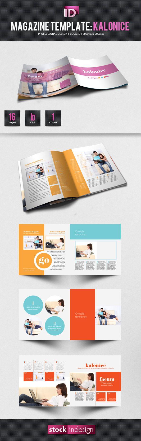free indesign magazine template kalonice spread em pinterest