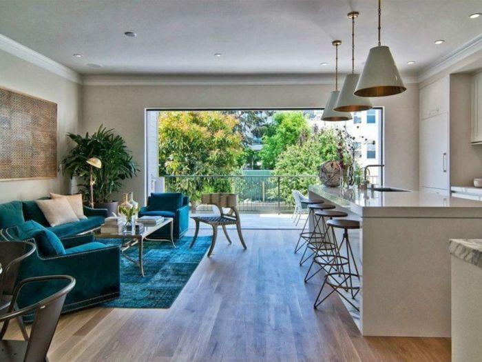 ▷ 1001 + ideas de decorar las cocinas abiertas al salón | Color ...