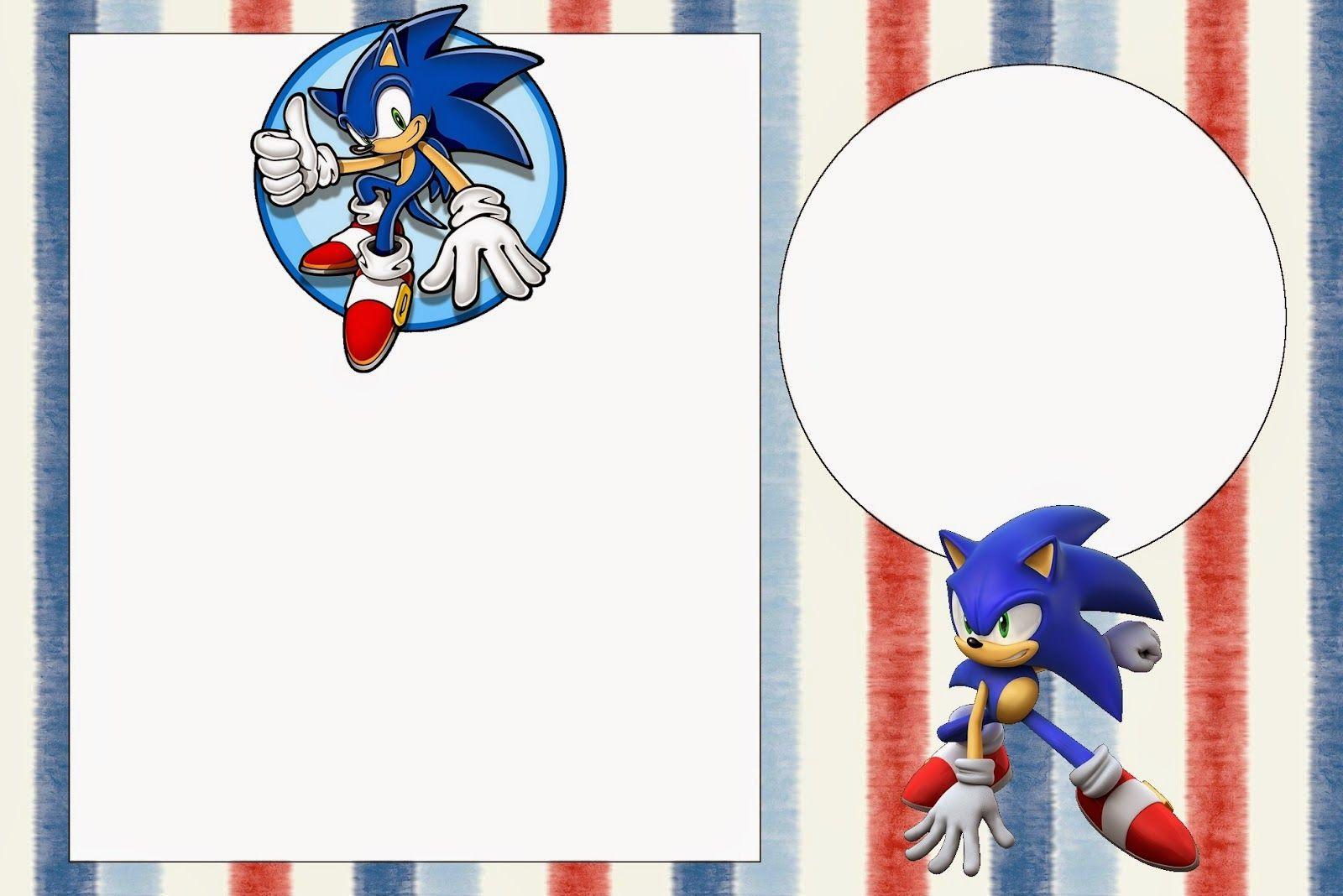 Sonic Invitaciones Para Imprimir Gratis Fiesta Sonic