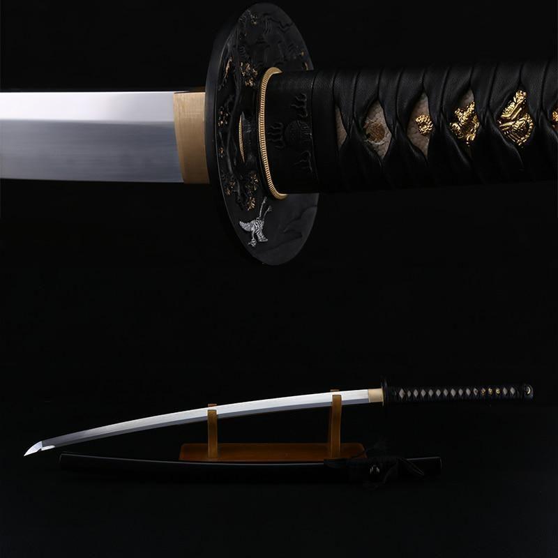 Samurai Sword 1095 Carbon Steel Clay Tempered Real Japanese Katana Full Tang Razor Sharpness Battle Ready For Clearance Sale Yester Carbon Steel Samurai Swords