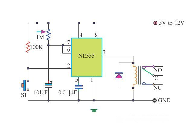 Basic Timer Control With 555timeric Circuit Is An