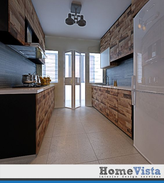 4 Room HDB Apartment  Punggol BTO   HomeVista SingaporeFernvale 4 Room HDB Flat At  22K   Kitchen  I like the wood feel  . Hdb 4 Room Kitchen Design. Home Design Ideas