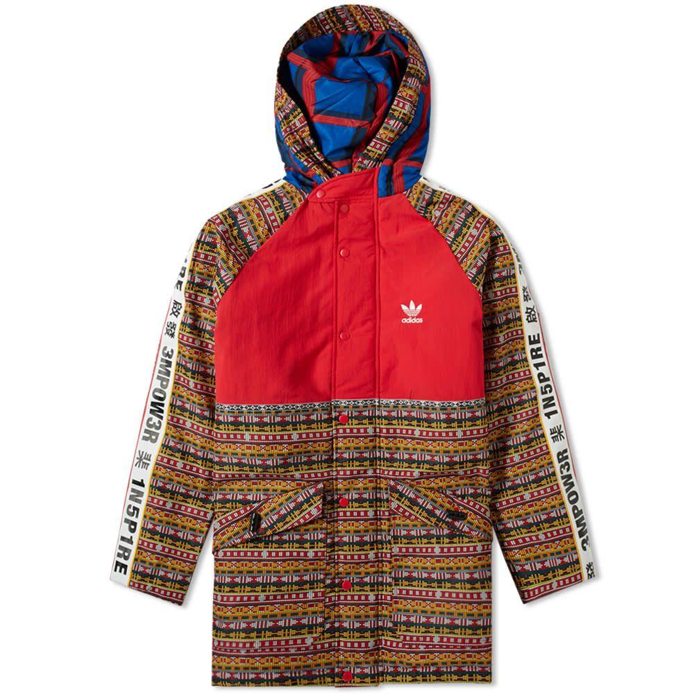 Adidas Originals Adidas By Pharrell Williams Solarhu Padded Jacket In Red Modesens Pharrell Williams Pharrell Padded Jacket [ 1000 x 1000 Pixel ]