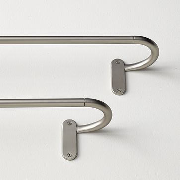 French Rods From West Elm Return Curve So That There S No Gap