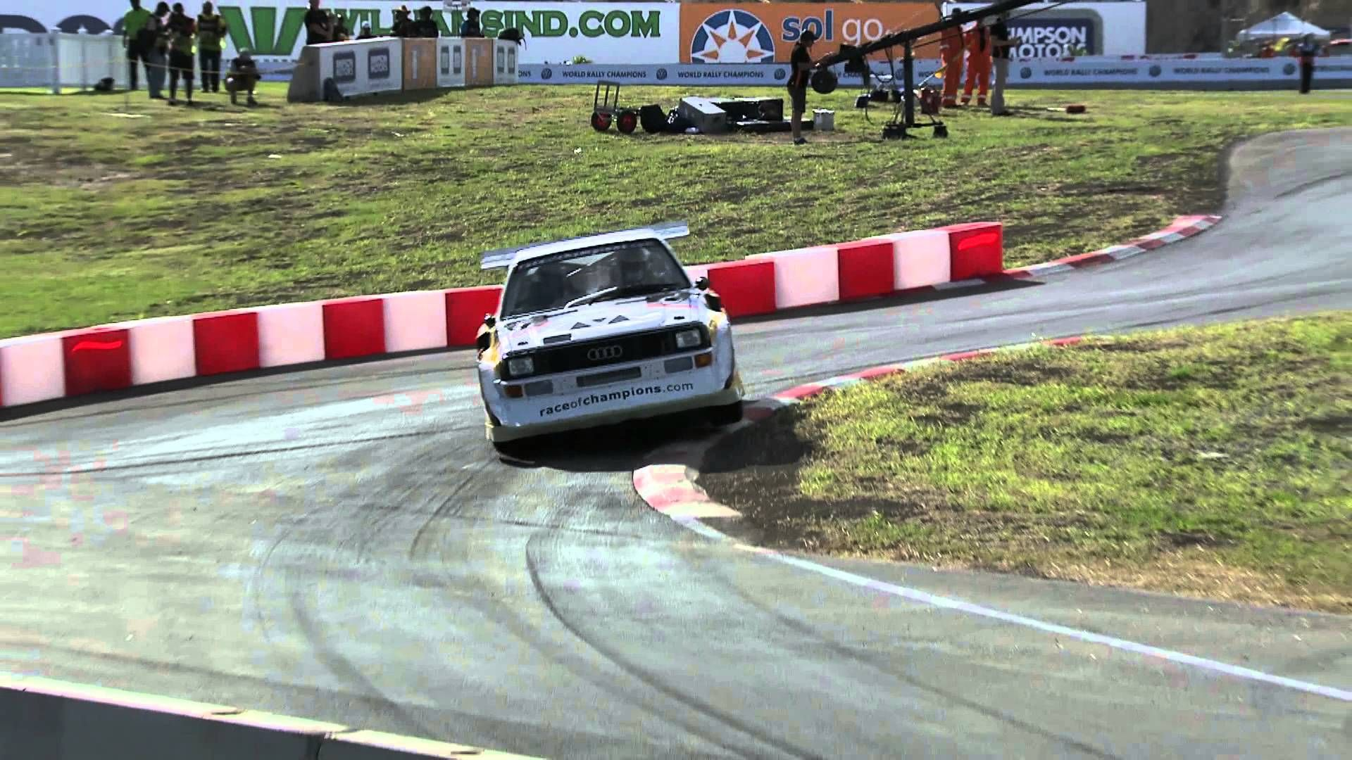 Stig Blomqvist Audi S1 Quattro Scandinavian Flick Race Of Champions 2014 Barbados Two Legends One Race Of Champions Track Stig Audi Barbados Racing