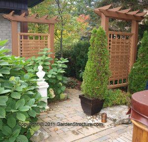 trellis privacy screen Oakville3 garden Pinterest