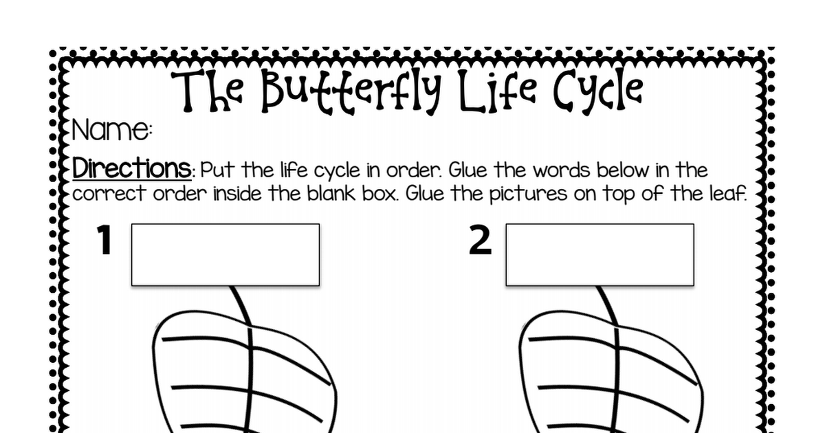 butterfly life cycle sequence page.pdf | Butterflies | Pinterest