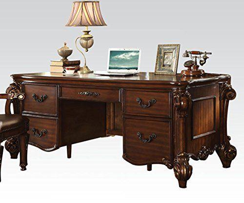 Acme Furniture 92125 Vendome Executive Desk Cherry Review Https Bestofficedeskchairsreviews Info