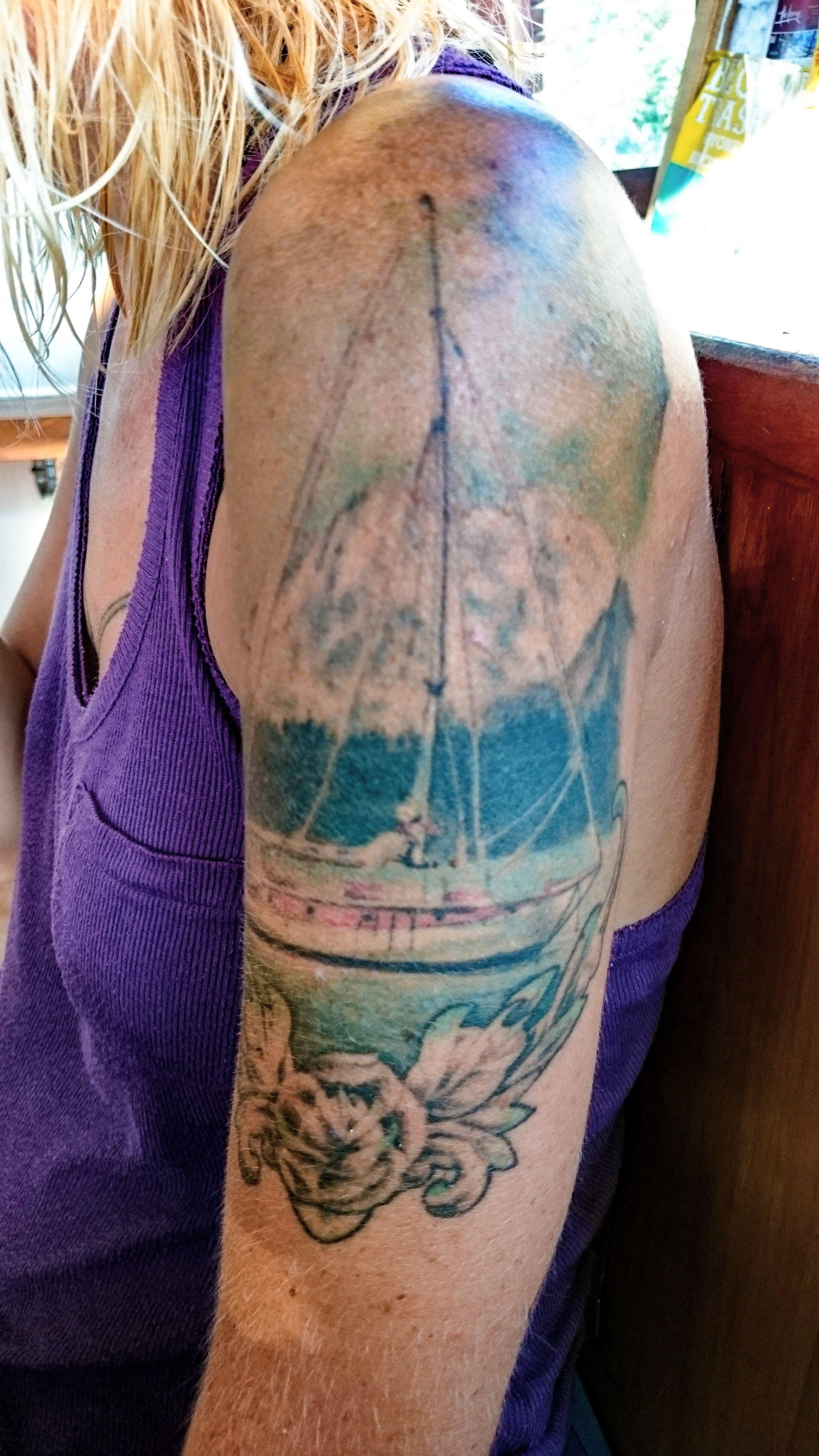 megan tattoo in blue marlin komodo restaurant sailing boat best rh pinterest co uk White Marlin Tattoo On Arm Florida Marlins Tattoo Designs