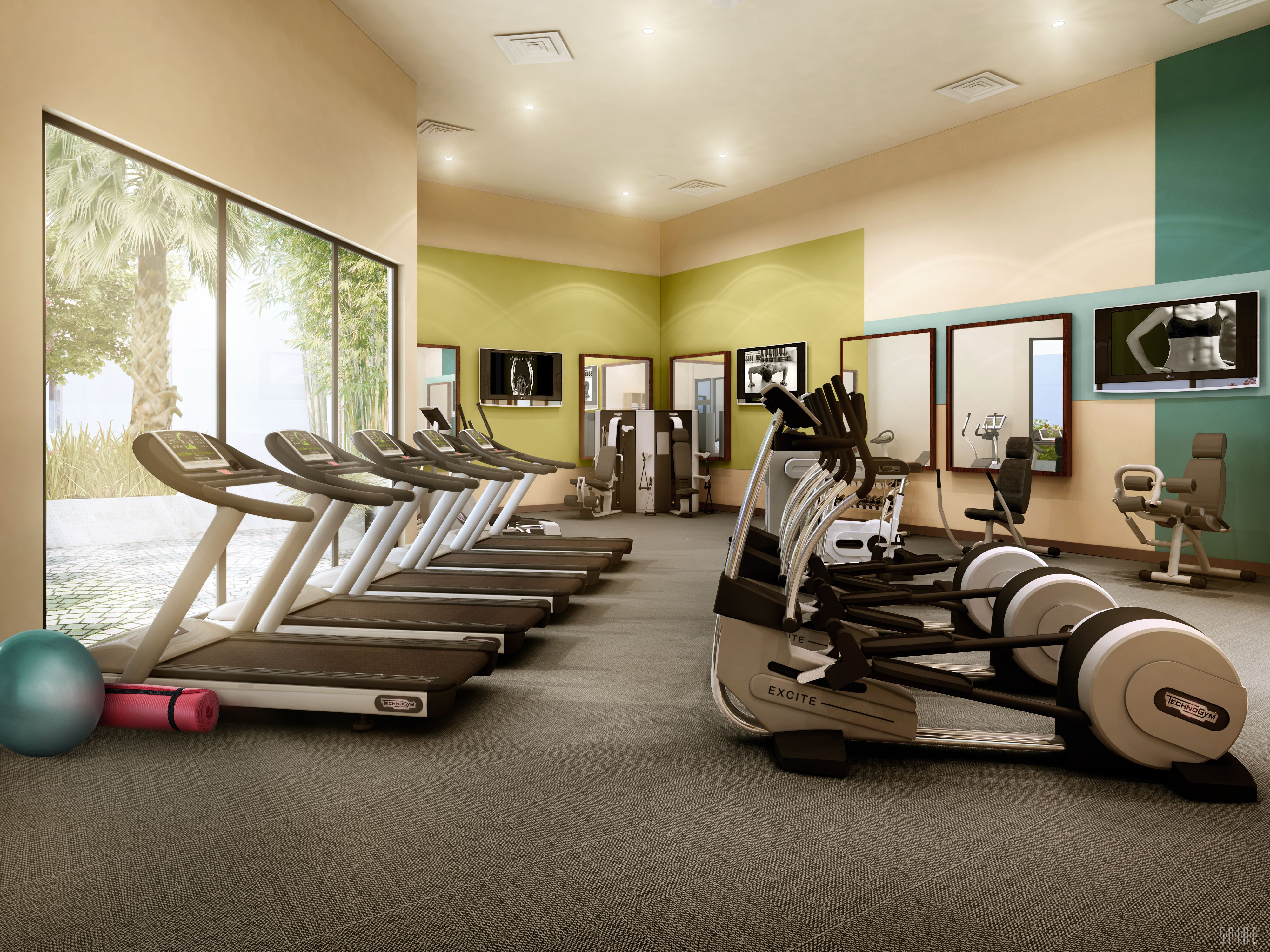 Fitness center apartment fitness center home