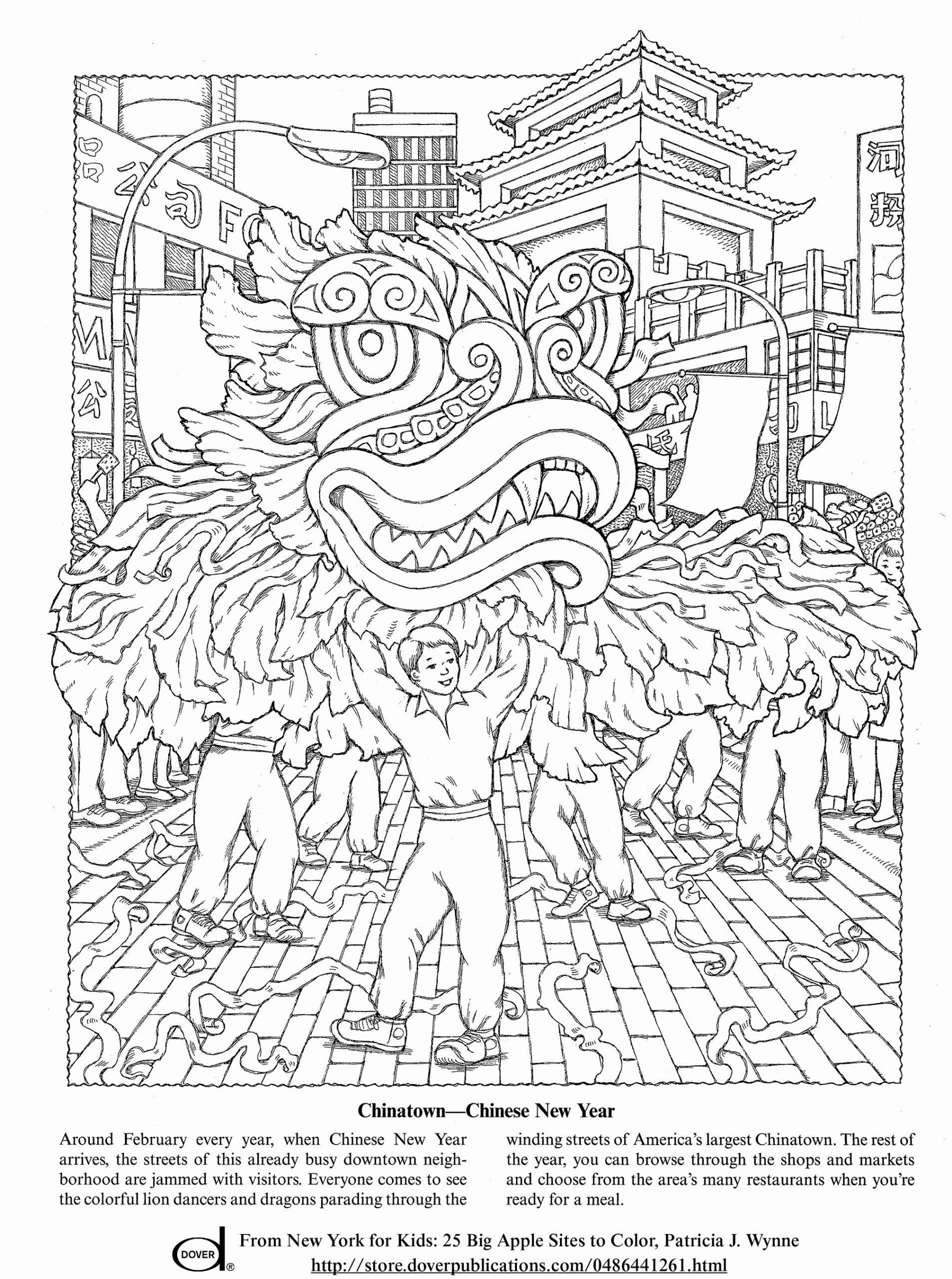 Chinese New Year Coloring Sheet Coloring Book Dltk ...