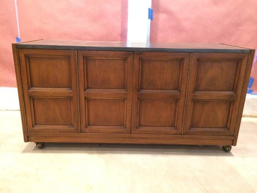 Danish Style Credenza : Mid century modern side bar buffet credenza cabinet sideboard
