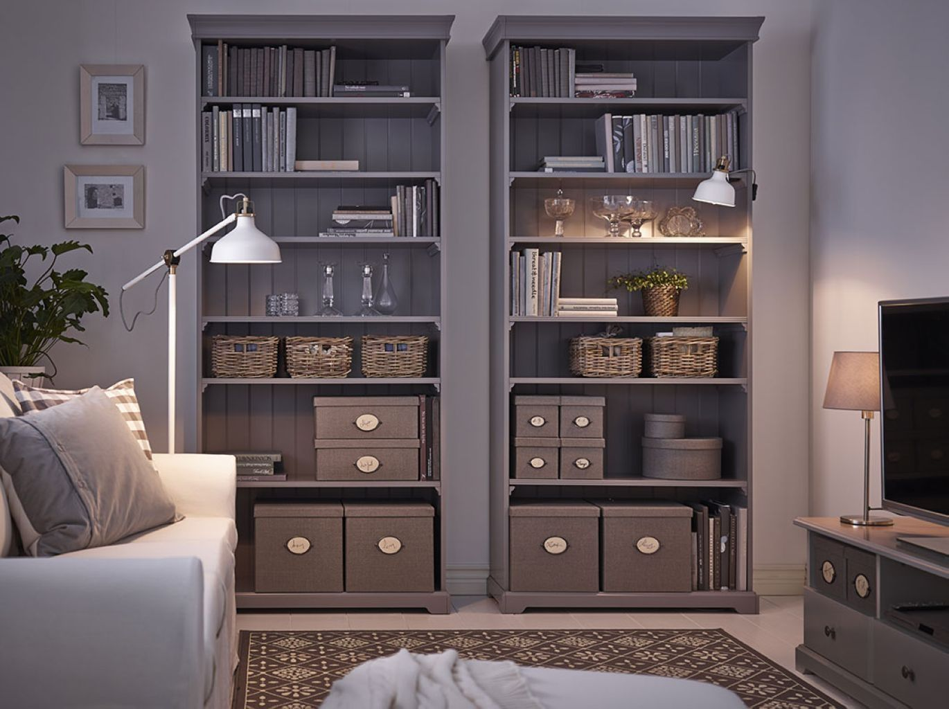 bookcase furniture display cabinets home breathtaking design ikea image liatorp