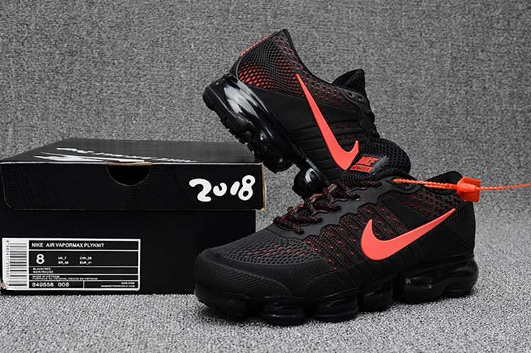 best authentic 50e54 4f1ae Nike Air Max 2018 Top Running Shoes Black Red For Men