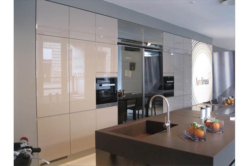 Cucina Con Isola Arclinea Convivium A Bergamo Sconto 45 Arredamento Casa Ripiani In Vetro Cucine