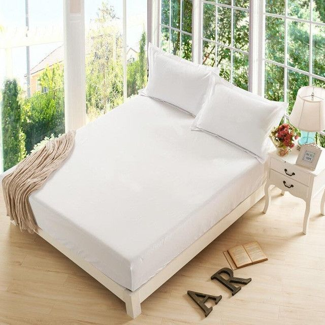 Nice Sunnyrain On Sale 3-pieces Polyester Fitted Sheet Set Queen Size Bed Sheet Pillow Case Metress Protector Deep Pocket Bedding