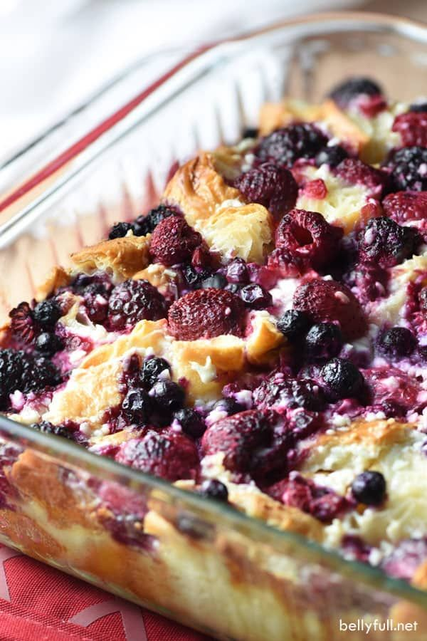 Blueberry and Raspberry Croissant Puff #deliciousfood